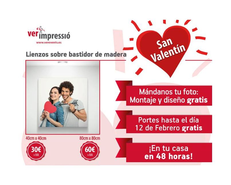 regala lienzos para San_Valentín