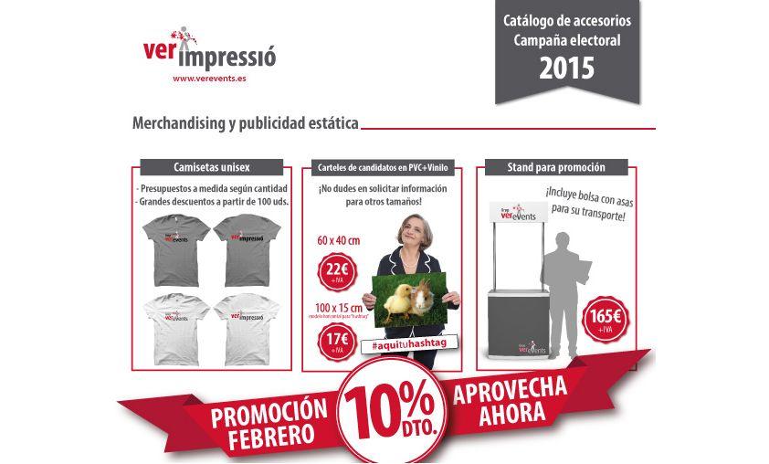 catálogo para publicidad electoral